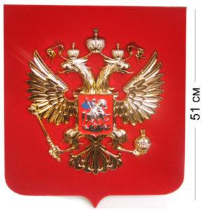 Герб на бархате 51 см. Стоимость 5000 руб