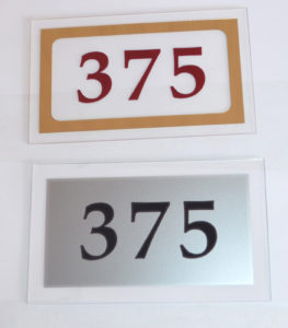 номерок акриловый 9х15 см 200 руб