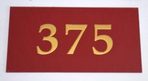 номерок акриловый 9х17 220 руб