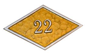 номерок объемный ромб 12х7 см 100 руб