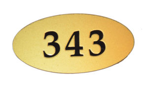 номерок овал акриловый 12х6 см 220 руб
