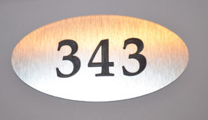 номерок овал гравировка 15х7 см 360 руб
