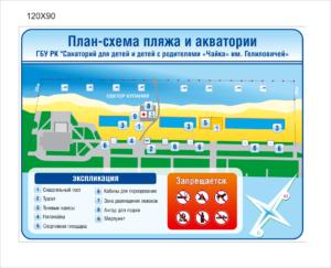 План-схема пляжа 120х90 6500 руб