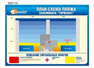 План-схема пляжа
