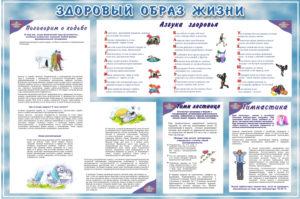 Стенд ЗДОРОВЫЙ ОБРАЗ ЖИЗНИ 120х80 5200 руб-