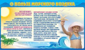 Стенд о пользе морского воздуха 120х70 4500 руб
