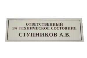 Табличка акрил 10х30 420 руб