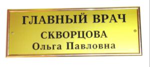 Табличка акриловая 13х30 с молдингом 680 руб